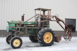 John Deere 4020 High Crop Powershift with Cane Loader