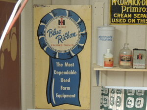 International Blue Ribbon Reconditioned self-framed SST sign