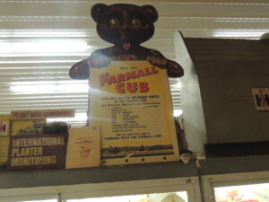 """See the Farmall Cub"" stand-up bear display"