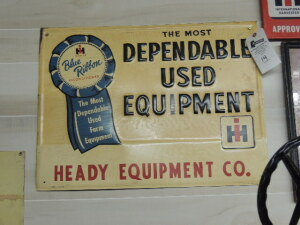 International Harvester Blue Ribbon Service SST sign
