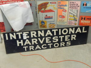 International Harvester Tractors wood framed SST sign