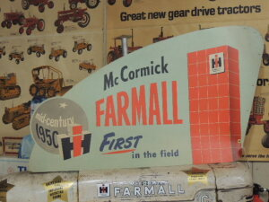 Set of (5)-Mid-Century 1950 Farmall C White Demonstrator cardboard placards