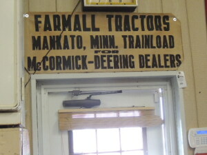 Farmall Tractors Mankato, Minn. Trainload for McCormick-Deering Dealers canvas sign