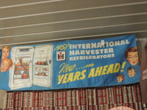 1951 International Harvester Refrigerators canvas banner