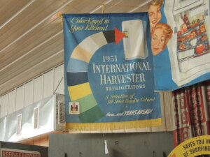 1951 International Harvester Refrigerators hanging banner w/fringe