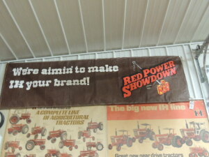 Red Power Showdown canvas banner