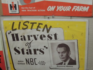 "International Harvester ""NBC-Listen Harvest of Stars"" paper lithograph poster"