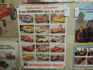 International Trucks paper poster