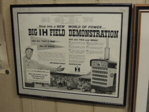 Framed Big IH Field Demonstration paper advertisement