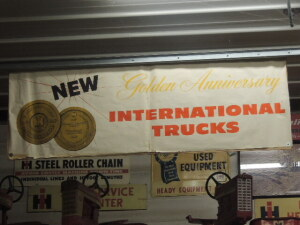 1957 Golden Anniversary International Trucks paper banner