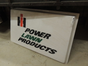 IH Power Lawn Products single plastic skin for light up dealer sign