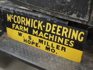 McCormick-Deering Farm Machines embossed SST tin tacker