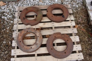 2 pairs of utility front wheel weights