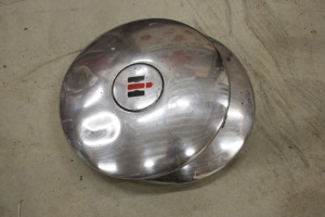 pair of IH lawn and garden rear hub caps
