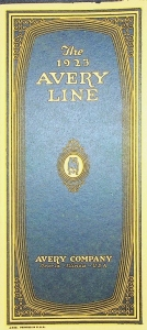 Avery Company -Peoria, ILL, U.S.A./ The 1923 Avery Line/Fold Out Catalog