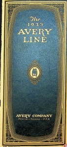The 1923 Avery Line Fold Out Catalog