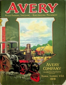 Avery Company 1919 Motor-Farming,Threshing & Road-Building Machinery The Bull Dog Line