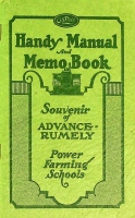 Handy OilPull Manuel Memo Book Souvenir of Advance-Rumely Power Farming Schools