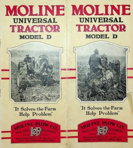 "Moline Universal Tractor Model D ""It Solves the Farm Help Problem"" Pocket Catalog"