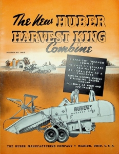 The New Huber Harvest King Combine Bulletin No. 144-A