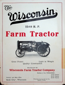 The Wisconsin 22-40 H.P. Farm Tractor Foldout