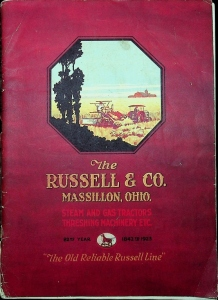 The Russel & Co. Steam & Gas Tractor Threshing Machinery Etc. Catalog