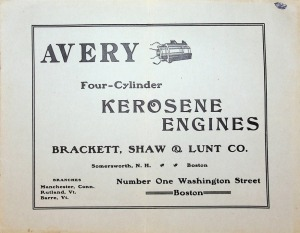 Avery Four-Cylinder Kerosene Engines