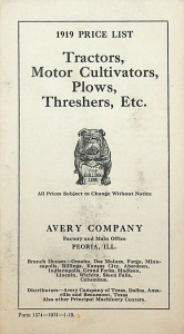 Avery Company Literature
