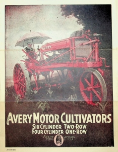 Avery Company, Foldout Brochure, Avery Motors Cultivators 6 Cylinder Two-Row, 4 Cylinder One-Row