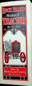 "Rock Island Plow Co., Foldout Brochure, Model ""F"" Tractor 18-35 H.P."