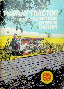 The Gray Tractor with the Wide Drive Drum Power Farming Catalog