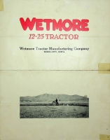 Foldout Brochure for the Wet-more 12-25 Tractor