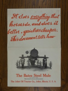 The Bates Steel Mule Large Format Brochure