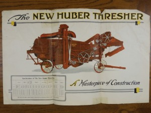 The New Huber Thresher Foldout Poster