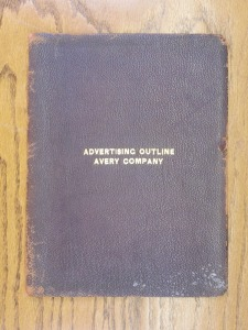Avery Company Advertising Outline Leather Binder