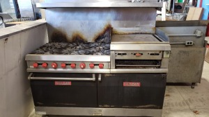 60 In Vulcan Range Griddle Double Oven