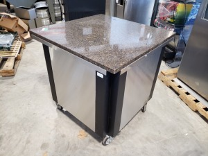 Marble Top Prep Table On Wheels
