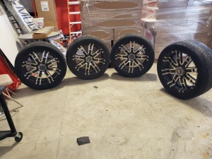 22 INCH Wheel And Tires 6 LUG 5.5 inch or 139.7 mm Medium Offset