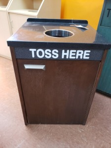 34 IN Tall 2Ft x 2Ft Restaurant Trash Receptacle