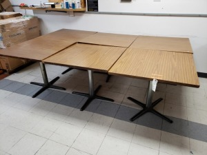 (6)   3 Ft Square Restaurant Tables