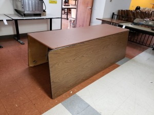 (3) 8 FT  Fold Out Wooden Tables