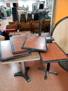 **Restaurant Tables Assorted Lot