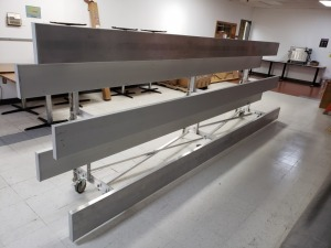 15' Portable Aluminum Bleachers