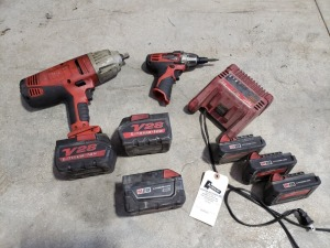 Milwaukee Impact Drill With Extras Lot