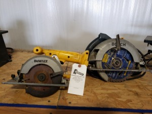 Dewalt and Bosch Circular Saws Lot