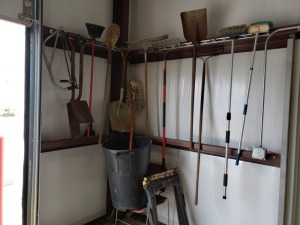 Assorted Shovels/Rakes/Saw Lot