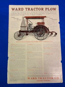 "Ward Tractor Co. The ""One Man Outfit""Foldout Mailer"