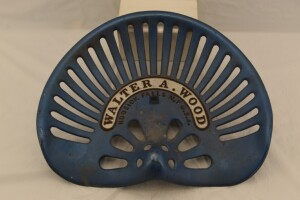 Walter A. Wood Cast Iron Seat