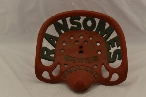 Ransomes Cast Iron Seat