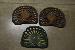 Group of 3 Cast Iron Seats